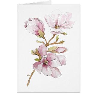 Tarjeta de felicitación de la magnolia de la