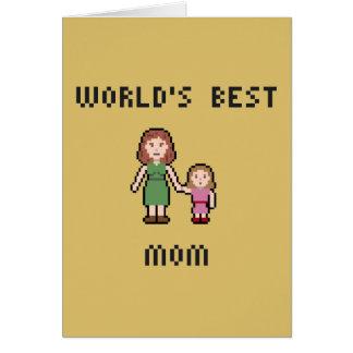Tarjeta de felicitación de la mamá del chica del