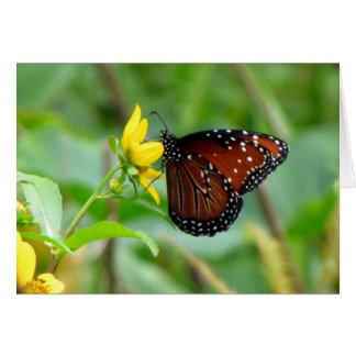 Tarjeta de felicitación de la mariposa de la reina