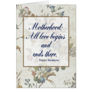 Tarjeta de felicitación de la maternidad