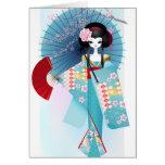 Tarjeta de felicitación de la muñeca de Origami