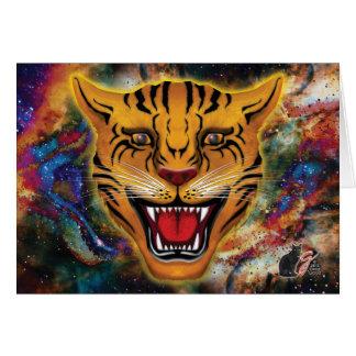 Tarjeta de felicitación de la nebulosa del tigre
