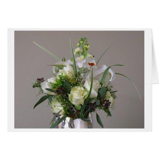 Tarjeta de felicitación de la novia/del boda