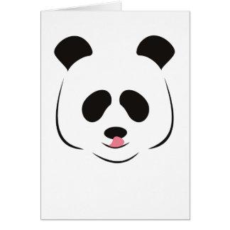 Tarjeta de felicitación de la panda