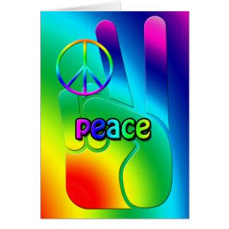 Tarjeta de felicitación de la paz del Hippie