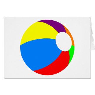 Tarjeta de felicitación de la pelota de playa