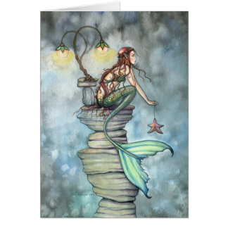 Tarjeta de felicitación de la perca de la sirena