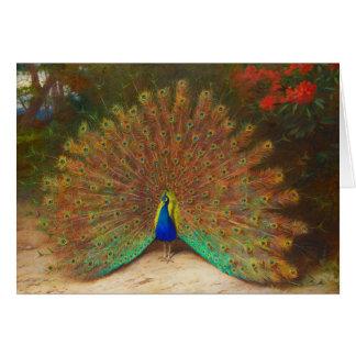 Tarjeta de felicitación de la pintura del pavo