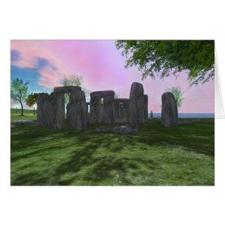 Tarjeta de felicitación de la poesía de Stonehenge