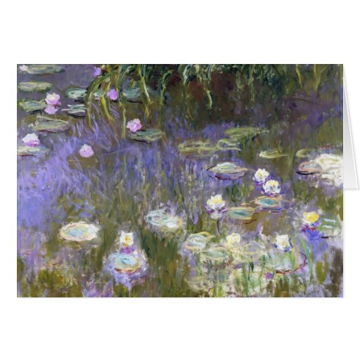 Tarjeta de felicitación de la primavera de Monet