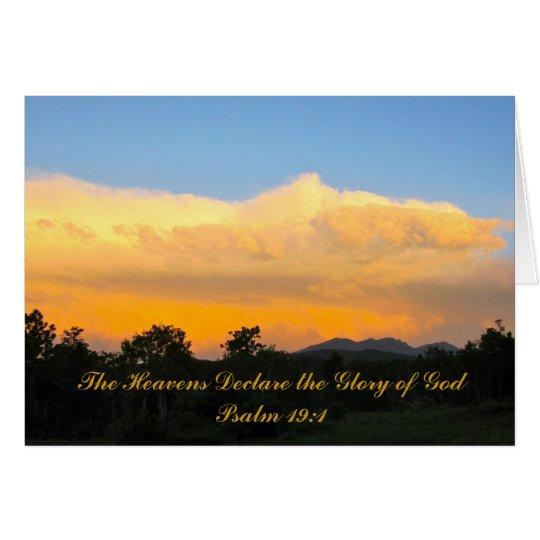 Tarjeta de felicitación de la puesta del sol del
