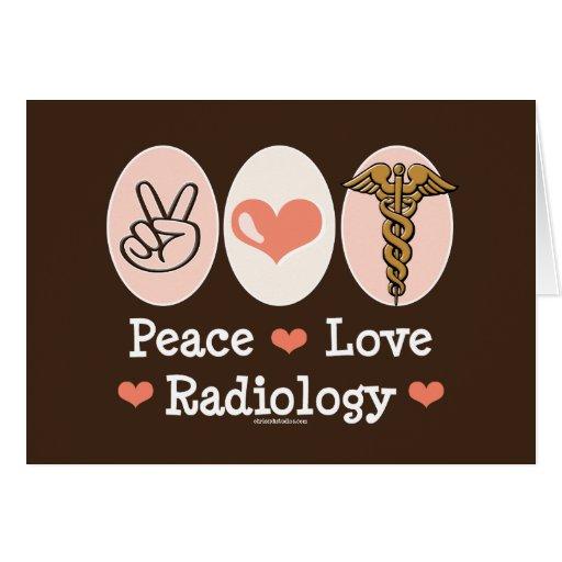 Tarjeta de felicitación de la radiología del amor