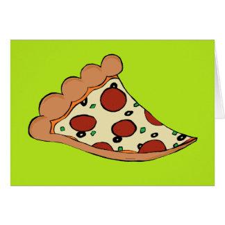 Tarjeta de felicitación de la rebanada de la pizza