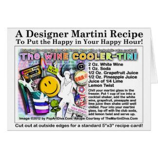 tarjeta de felicitación de la receta de Martini de