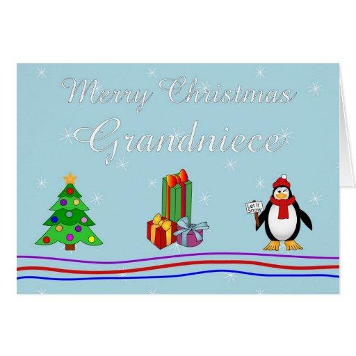 Tarjeta de felicitación de la resobrina de Navidad