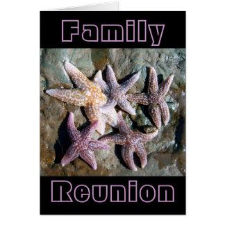 Tarjeta de felicitación de la reunión de familia 1