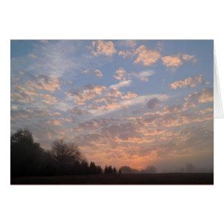 Tarjeta de felicitación de la salida del sol
