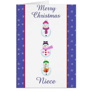 Tarjeta de felicitación de la sobrina de Navidad