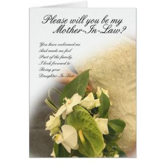Tarjeta de felicitación de la suegra, usted será