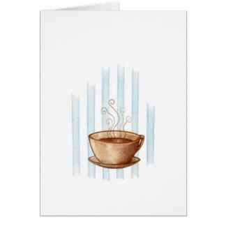 Tarjeta de felicitación de la taza de café