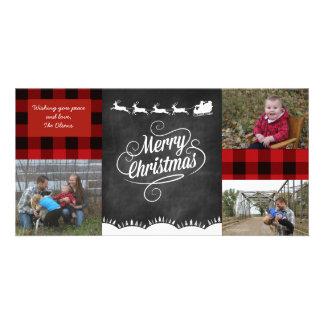Tarjeta de felicitación de la tela escocesa de las tarjetas personales