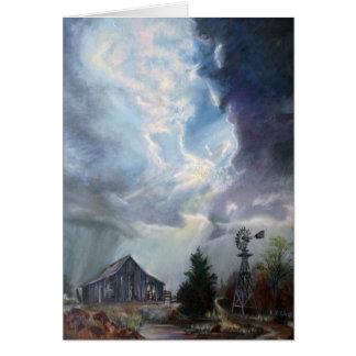 Tarjeta de felicitación de la tempestad de truenos