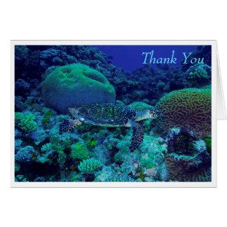 Tarjeta de felicitación de la tortuga de mar de