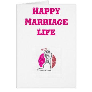 Tarjeta de felicitación de la vida de la boda