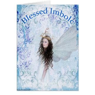 Tarjeta de felicitación de las bendiciones de
