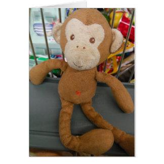 Tarjeta de felicitación de las compras del mono