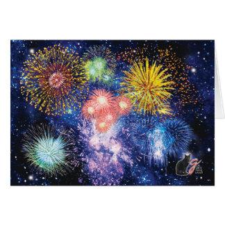 Tarjeta de felicitación de las explosiones de los