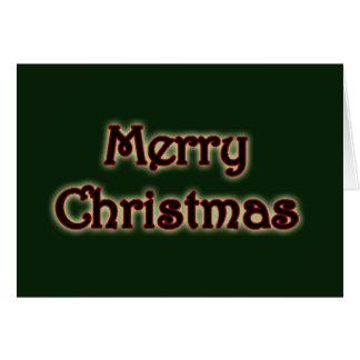 Tarjeta de felicitación de las Felices Navidad que