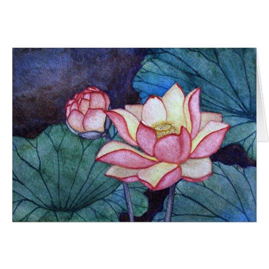 Tarjeta de felicitación de las flores de Lotus #3