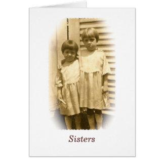 Tarjeta de felicitación de las hermanas