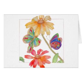 Tarjeta de felicitación de las mariposas y de las