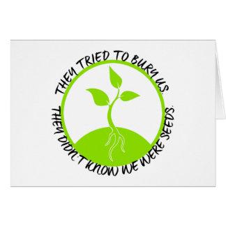 Tarjeta de felicitación de las semillas