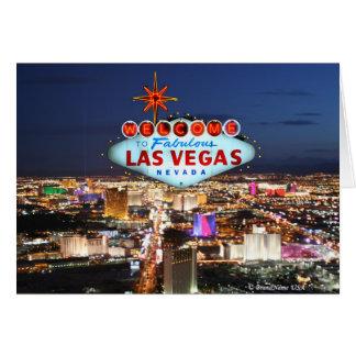 Tarjeta de felicitación de Las Vegas