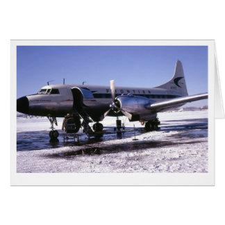 Tarjeta de felicitación de los aeroplanos
