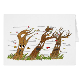 Tarjeta de felicitación de los árboles del otoño