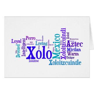 Tarjeta de felicitación de los azules de Xolo