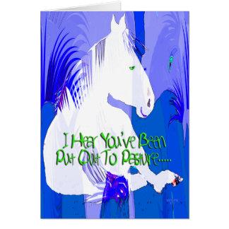 Tarjeta de felicitación de los azules del retiro