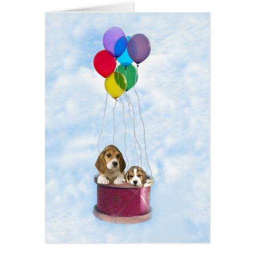 Tarjeta de felicitación de los beagles