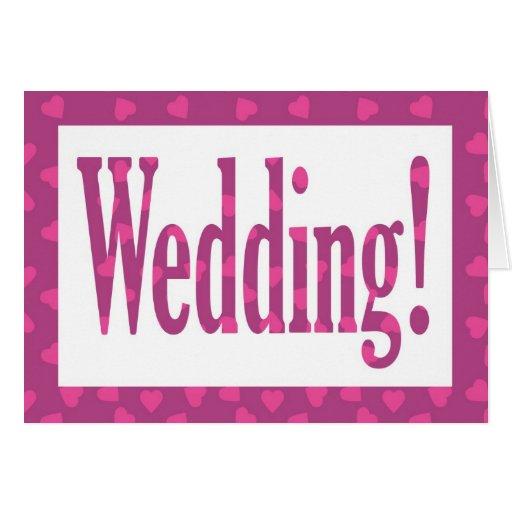 tarjeta de felicitación de los corazones del boda