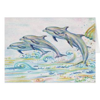 Tarjeta de felicitación de los delfínes del