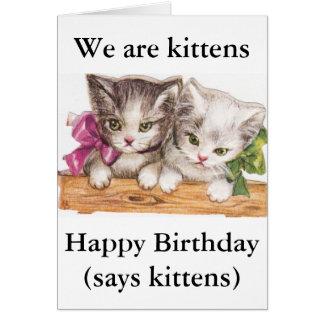 Tarjeta de felicitación de los gatitos