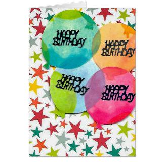 Tarjeta de felicitación de los globos