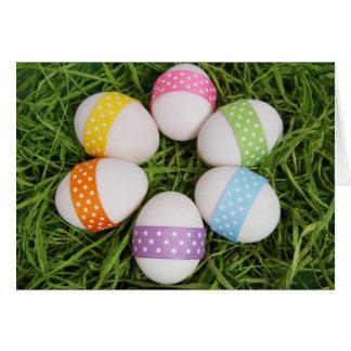 Tarjeta de felicitación de los huevos de Pascua