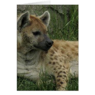Tarjeta de felicitación de los Hyenas de risa