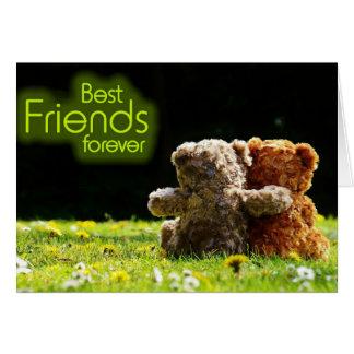 Tarjeta de felicitación de los mejores amigos del