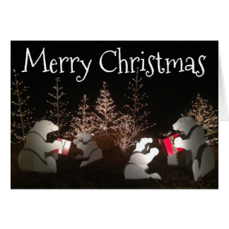 Tarjeta de felicitación de los osos del navidad